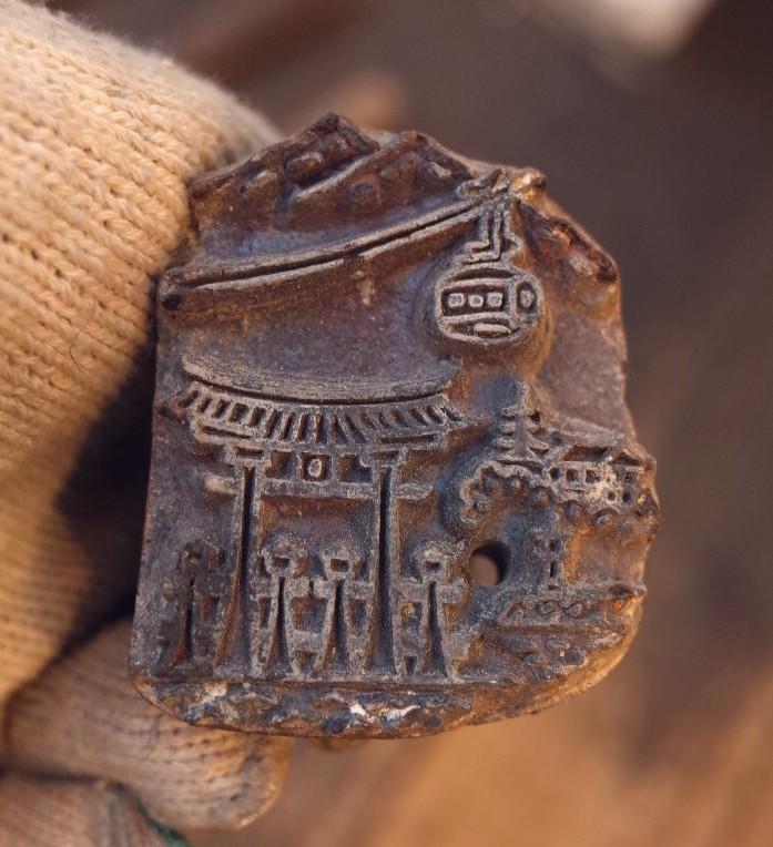 アンティーク  宮島の焼印セット  珍しいです。