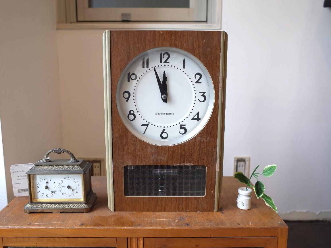 古道具 ナショナル・バッテリークロック 掛け時計