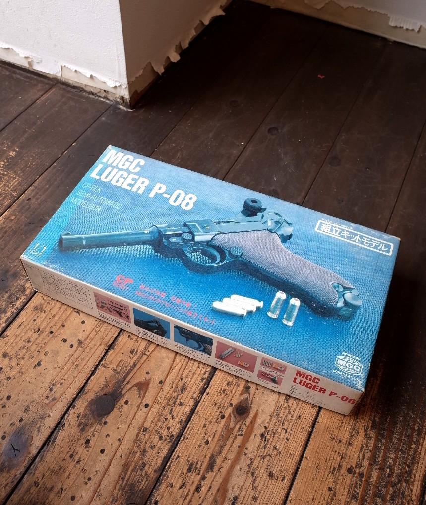 未使用 MGC・ルガーP08  組立キット MGC luger p-08 昭和物 ビンテージ