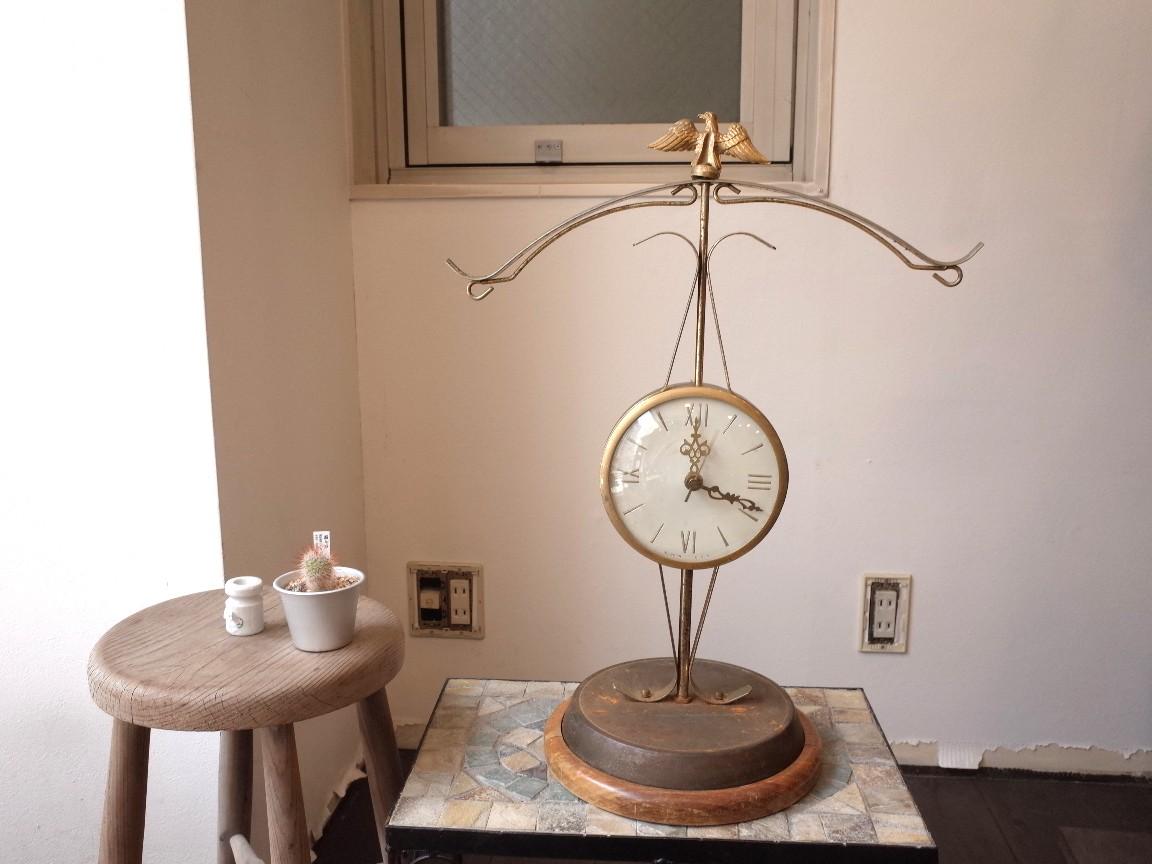 USA UNITED社製 ビンテージ イーグル置時計 1960年代