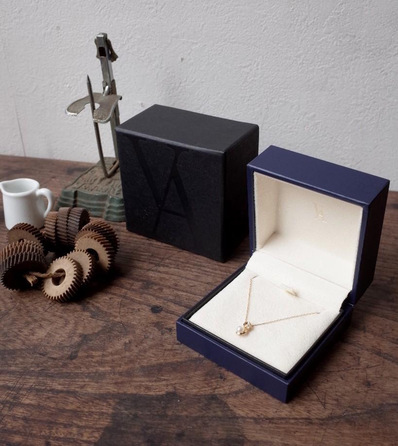 ヴァンドーム青山 *上品な♪K18ダイヤ&パール付ネックレス